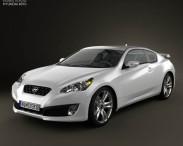 3D model of Hyundai Genesis Coupe 2011