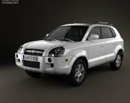 3D model of Hyundai Tucson 2006
