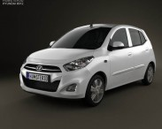 3D model of Hyundai i10 2011