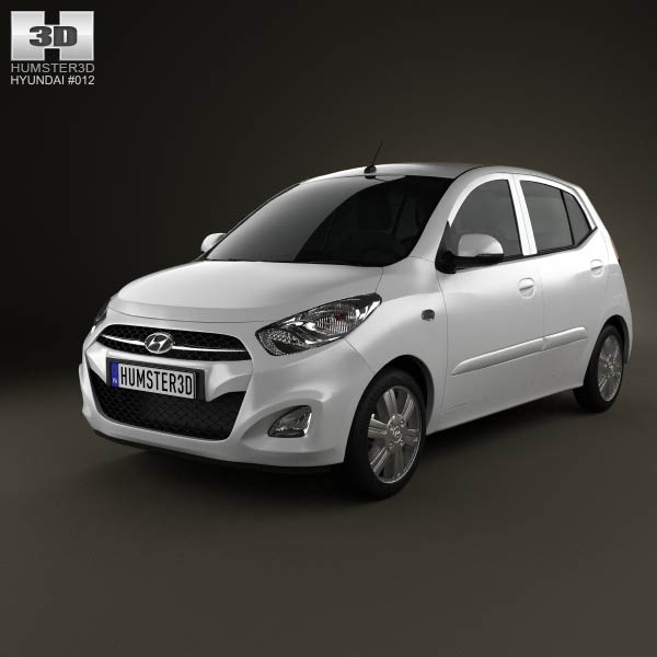 Hyundai i10 2011 3d car model