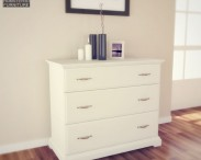 3D model of IKEA BIRKELAND Chest of 3 Drawers