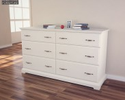 3D model of IKEA BIRKELAND Chest of 6 Drawers