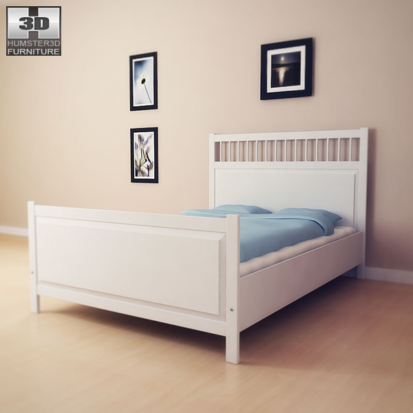 ikea hemnes bed 2 3d model humster3d. Black Bedroom Furniture Sets. Home Design Ideas