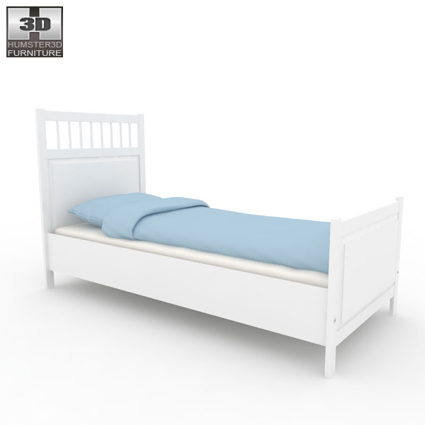 ikea hemnes bed 3d model humster3d. Black Bedroom Furniture Sets. Home Design Ideas