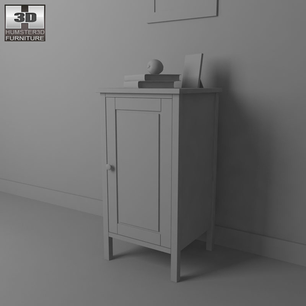 Ikea Apothekerschrank Neuwertig Walzbachtal ~  Ikea Hemnes Bedside Table 2 3d Model Bedside Table Color White