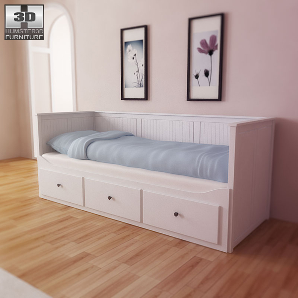 ikea hemnes day bed 3d model humster3d. Black Bedroom Furniture Sets. Home Design Ideas