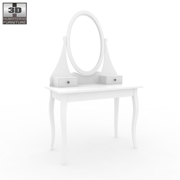 Ikea Hemnes Dressing Table With Mirror 3d Model Humster3d