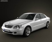 3D model of Mercedes-Benz S-class 2003