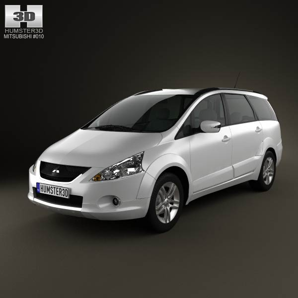 Mitsubishi Grandis 2012 3d car model
