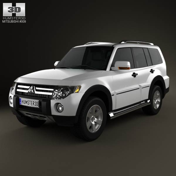 Mitsubishi Pajero Wagon 5-door 2009 3d car model