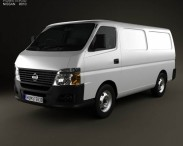 3D model of Nissan Urvan Panel Van Low Roof 2011