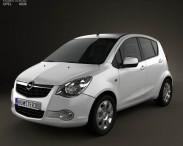 3D model of Opel Agila 2008