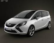 3D model of Opel Zafira Tourer 2012