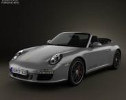 3D model of Porsche 911 Carrera 4GTS Cabriolet 2011