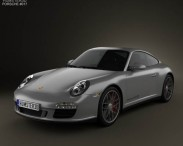 3D model of Porsche 911 Carrera 4GTS Coupe 2011