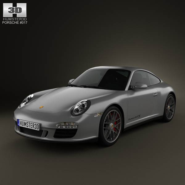 Porsche 911 Carrera 4GTS Coupe 2011 3d car model
