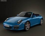 3D model of Porsche 911 Carrera 4S Cabriolet 2011