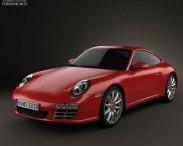 3D model of Porsche 911 Carrera 4S Coupe 2011