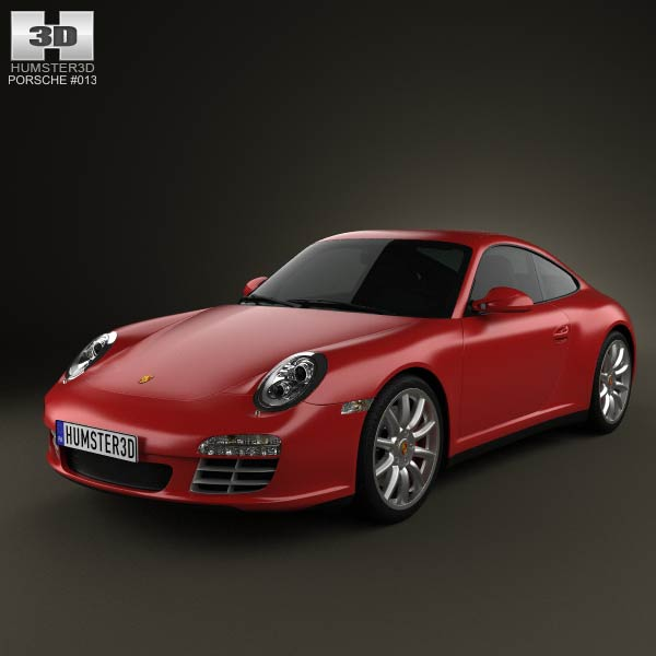 Porsche 911 Carrera 4S Coupe 2011 3d car model