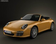 3D model of Porsche 911 Carrera 4 Cabriolet 2011