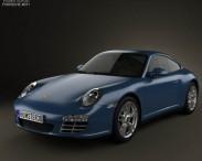 3D model of Porsche 911 Carrera 4 Coupe 2011