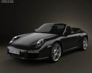 3D model of Porsche 911 Carrera Black Edition Cabriolet 2011