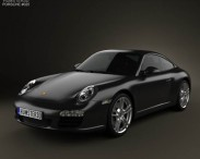 3D model of Porsche 911 Carrera Black Edition Coupe 2011