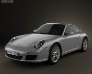 3D model of Porsche 911 Carrera Coupe 2011