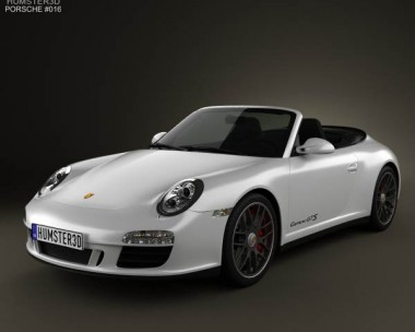 3D model of Porsche 911 Carrera GTS Cabriolet 2011