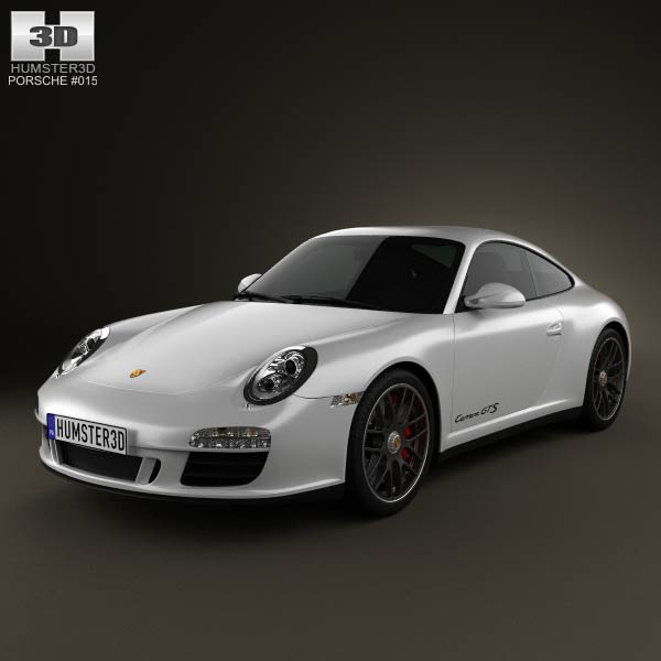 Porsche 911 Carrera GTS Coupe 2011 3d car model