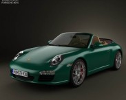 3D model of Porsche 911 Carrera S Cabriolet 2011