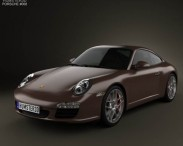 3D model of Porsche 911 Carrera S Coupe 2011