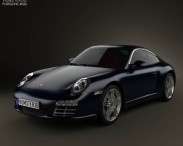 3D model of Porsche 911 Targa 4S 2011