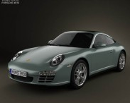 3D model of Porsche 911 Targa 4 2011