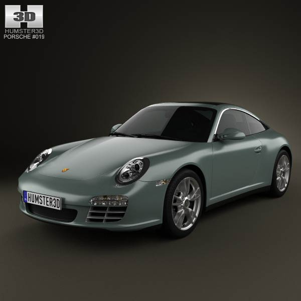 Porsche 911 Targa 4 2011 3d car model