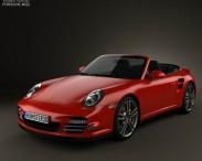 3D model of Porsche 911 Turbo Cabriolet 2011