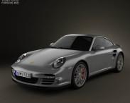 3D model of Porsche 911 Turbo Coupe 2011