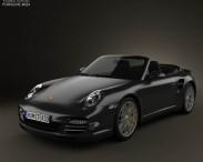 3D model of Porsche 911 Turbo S Cabriolet 2011
