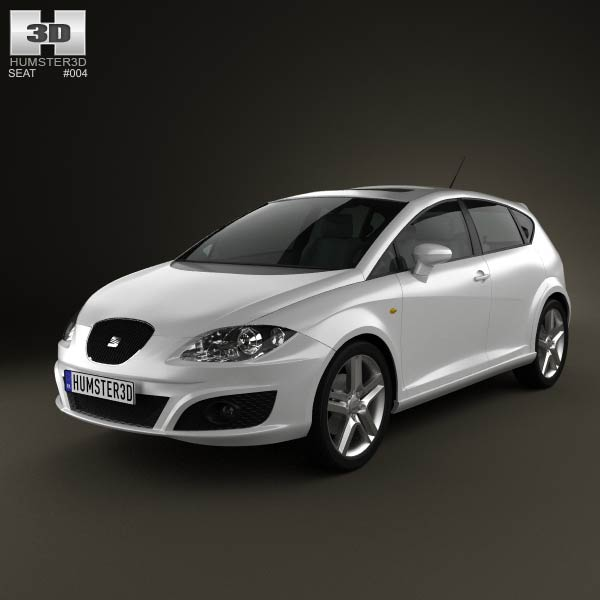 seat leon 2009 3d model humster3d. Black Bedroom Furniture Sets. Home Design Ideas