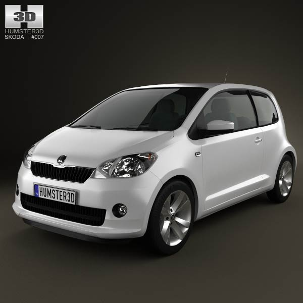 skoda citigo 2013 3d model humster3d. Black Bedroom Furniture Sets. Home Design Ideas