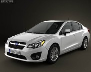 3D model of Subaru Impreza 2012