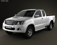 3D model of Toyota Hilux Extra Cab 2012