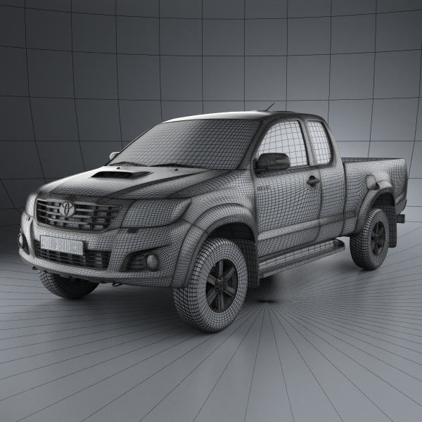 Toyota Hilux Extra Cab 2012 3d car model