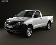 3D model of Toyota Hilux Regular Cab 2012