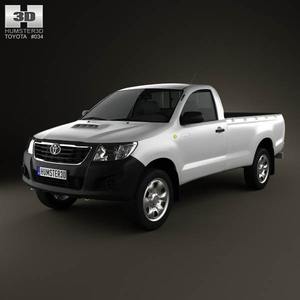 Toyota Hilux Regular Cab 2012 3d car model