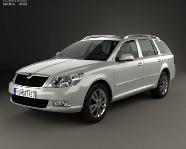 3D model of Skoda Octavia (Laura) combi 2009