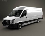 3D model of Volkswagen Crafter Extralong WB SHR 2011