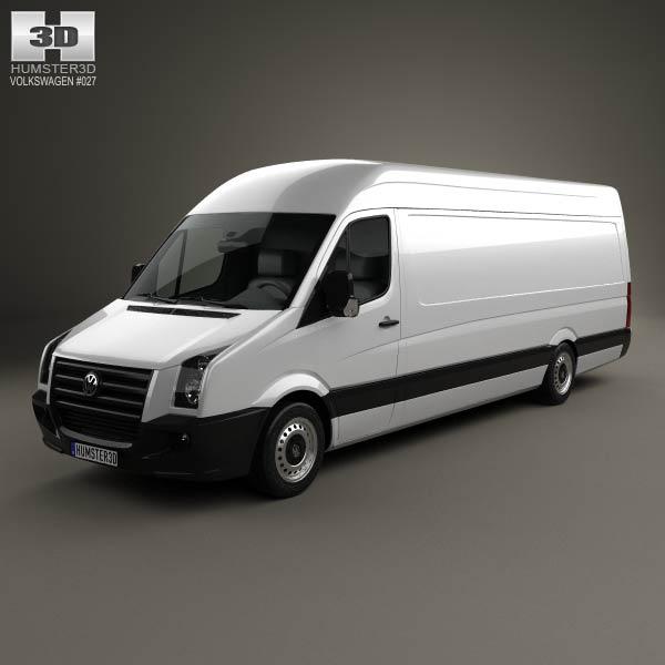 3D model of Volkswagen Crafter Extralong WB SHR 2011