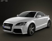 3D model of Audi TT RS Coupe with HQ Interior 2010