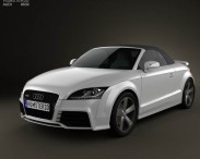 3D model of Audi TT RS Roadster with HQ Interior 2010